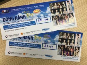 Thiết kế in vé concert âm nhạc giá rẻ lấy ngay tại Hà Nội