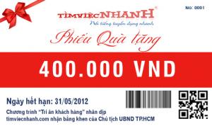 Thiết kế in phiếu quà tặng giá rẻ lấy ngay tại Hà Nội theo yêu cầu