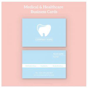 Mẫu card visit phòng khám nha khoa răng hàm mặt đẹp hút khách