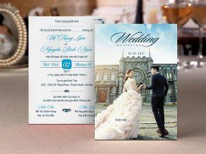 In thiệp cưới full hình ảnh cô dâu chú rể đẹp giá rẻ lấy ngay tại Hà Nội