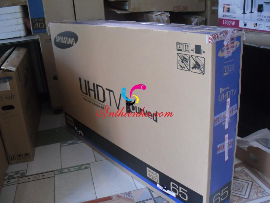 In thùng carton đựng tivi giúp PR thương hiệu