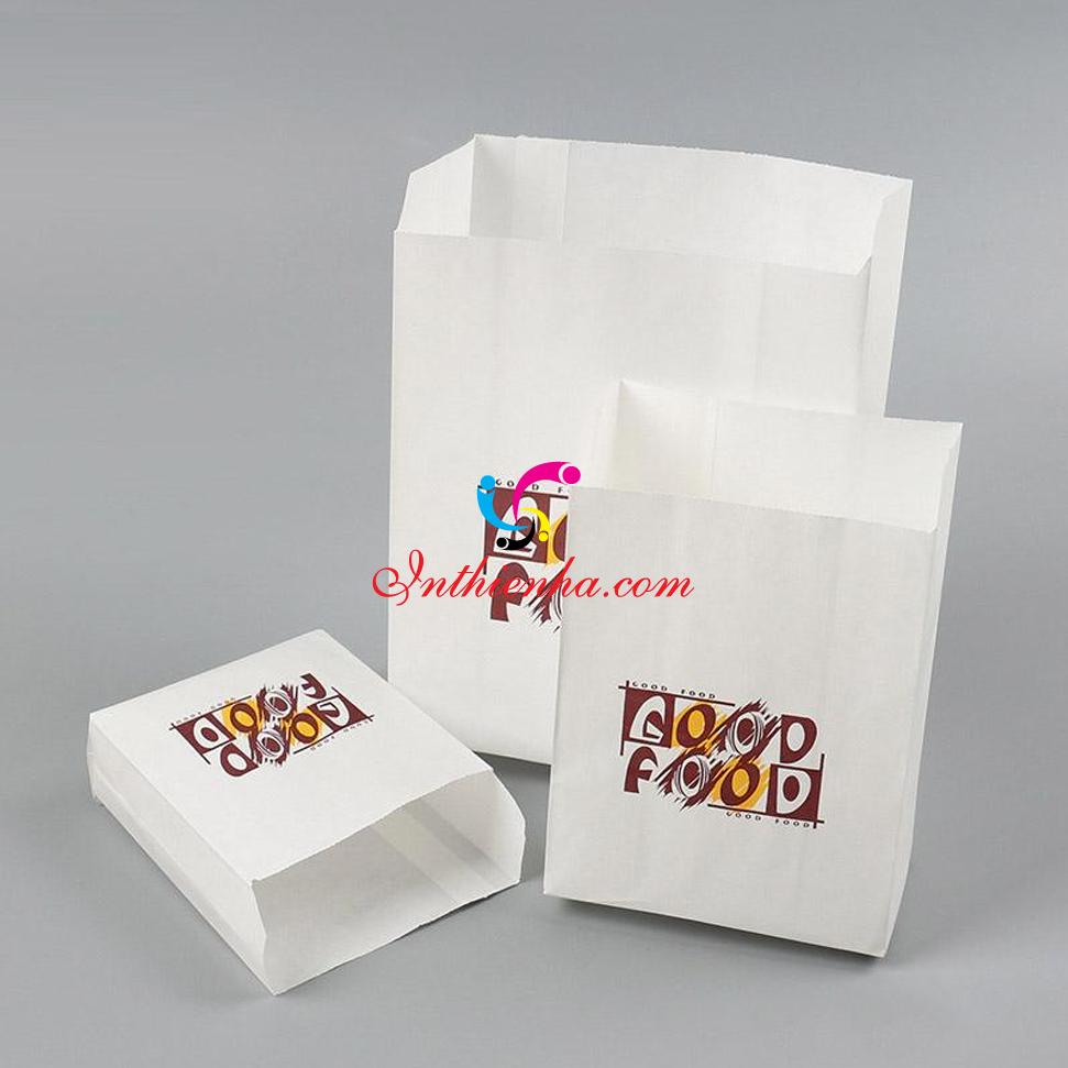 In túi giấy đựng gà rán