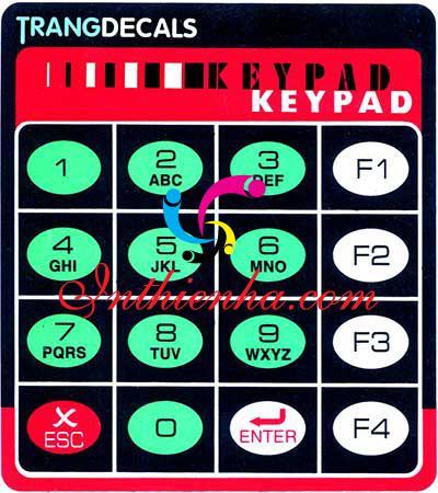 Lợi ích của in tem nhãn phím bấm hệ điều khiển