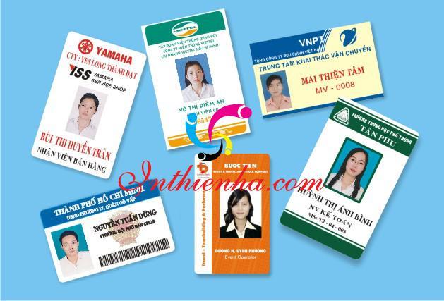 In thẻ tên PVC