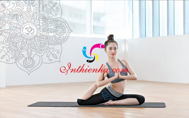 Logo yoga vector