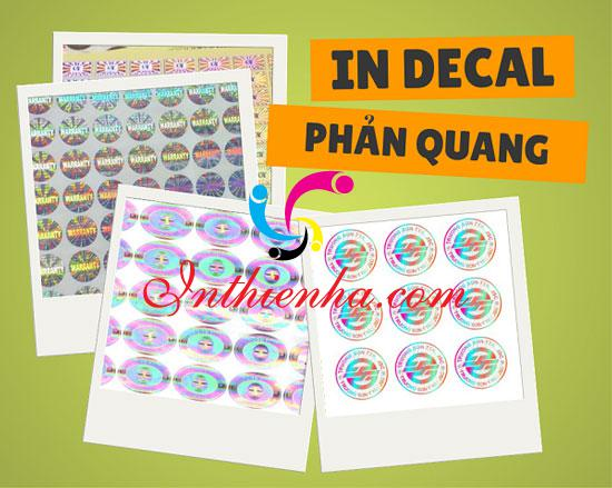 In decal phản quang