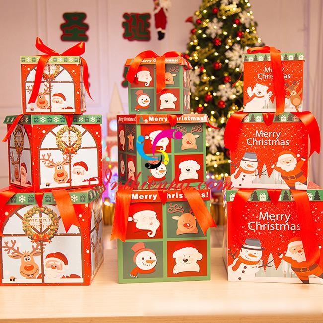 In hộp giấy đựng quà tặng Noel