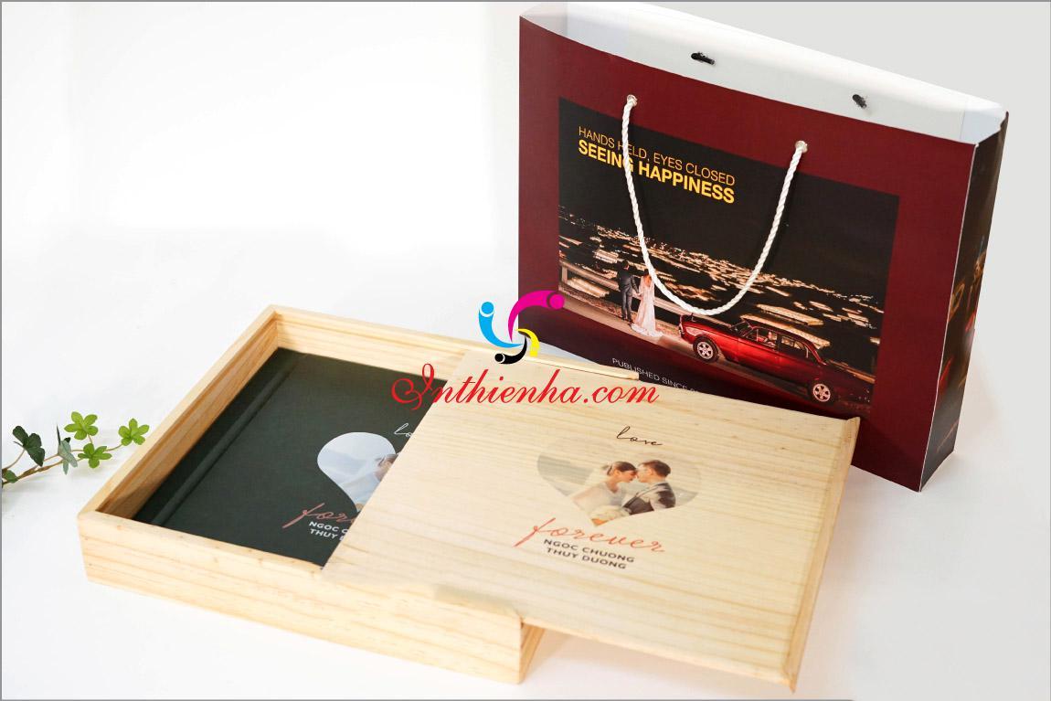 In hộp giấy đựng album ảnh cưới