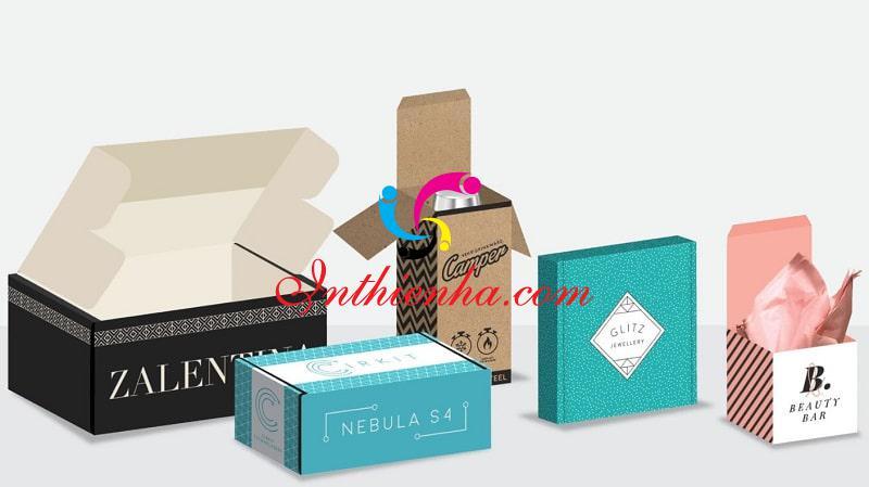 Các loại hộp giấy Thiên Hà cung cấp