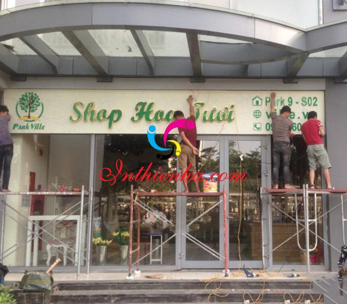 Mẫu biển quảng cáo shop hoa tươi